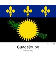 National flag of Guadeloupe with correct vector