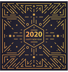 new year 2020 geometric card banner vector image