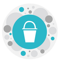 Of camping symbol on bucket vector