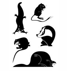 original animal silhouettes vector image