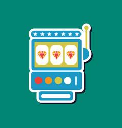 Paper sticker on stylish background slot machine vector