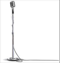 Retro vintage microphone 3 vector