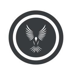 Round black bird sign vector