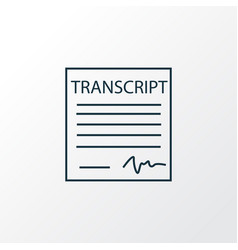 School transcript icon line symbol premium vector