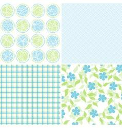 scrapbook patterns for design vector image vector image