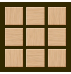 Set of Blank Wood Box vector image