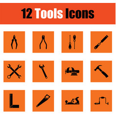 set of tools icons vector image