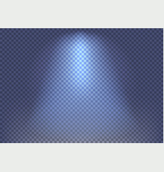Spotlight beam effect on transparent background vector