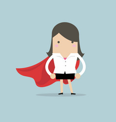 super businesswoman vector image