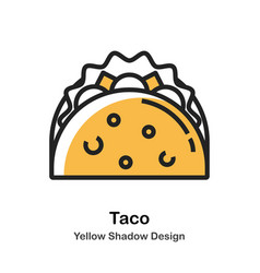 Taco lineal color vector
