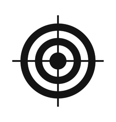 Target simple icon vector image