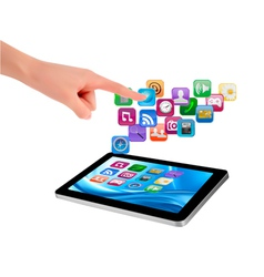 Touch tablet user interface vector
