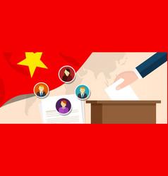 Vietnam democracy political process selecting vector