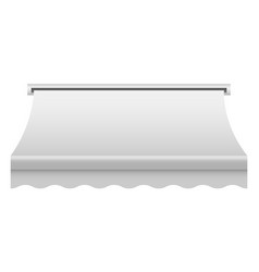 White shop awning mockup realistic style vector