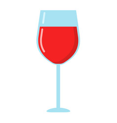wine glass flat icon food and drink alcohol vector image