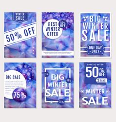 winter sale banners set vector image