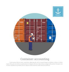 a port worker near the container harbors engineer vector image