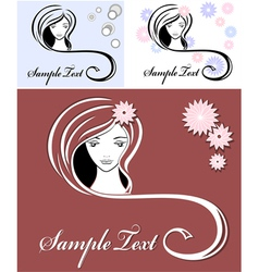 girl advertising means of hair vector image vector image