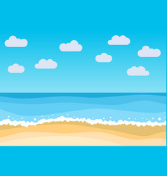 landscape with summer beach vector image vector image