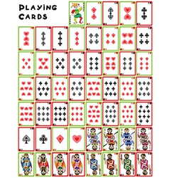 playing cards pack vector image
