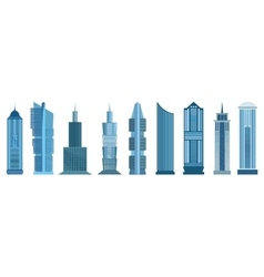 Skyscraper icons isolated on white background vector image vector image