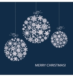 Christmas balls from white snowflakes vector image