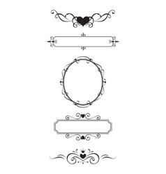 Decorative border and frame set vector image