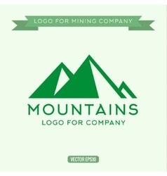 Logo abstract mountain vector image
