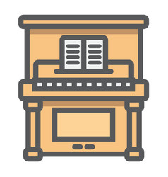 piano filled outline icon music and instrument vector image