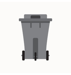 Waste sorting garbage bin isolated vector image