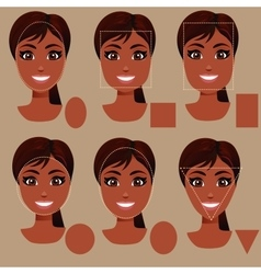woman face shape types vector image