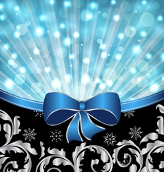 Christmas ornamental background glowing design - vector