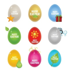 colored clean and creative nature easter eggs vector image