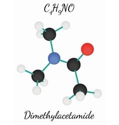 Dimethylacetamide C4H9NO molecule vector image