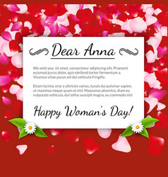 Happy Womens Day greeting card gift card on vector image vector image