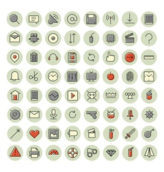 icons for user inteface and technology vector image