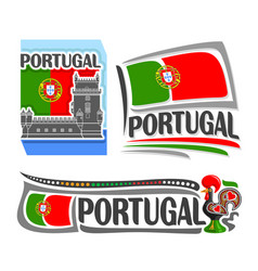 logo for portugal vector image vector image