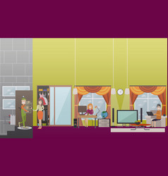 people making online purchases flat vector image vector image