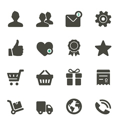 Universal icons set 1 vector image