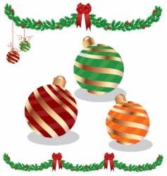garland and ornaments vector image vector image