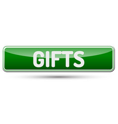 Gifts - abstract beautiful button with text vector
