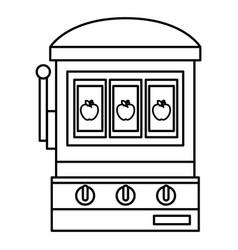 jack pot casino isolated icon vector image