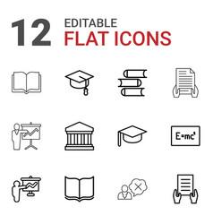 12 university icons vector