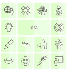 14 idea icons vector