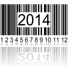 2014 on barcode vector