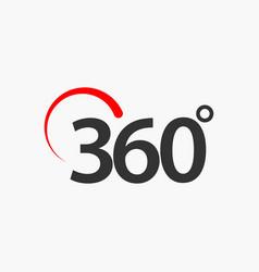 360 degrees template design vector