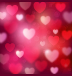 abstract romantic red background with hearts vector image