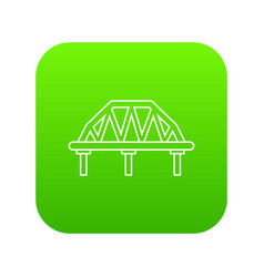arched train bridge icon green vector image