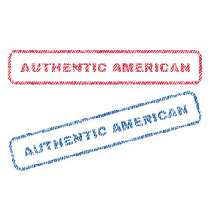 Authentic american textile stamps vector
