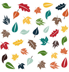 Autumn forest pattern vector